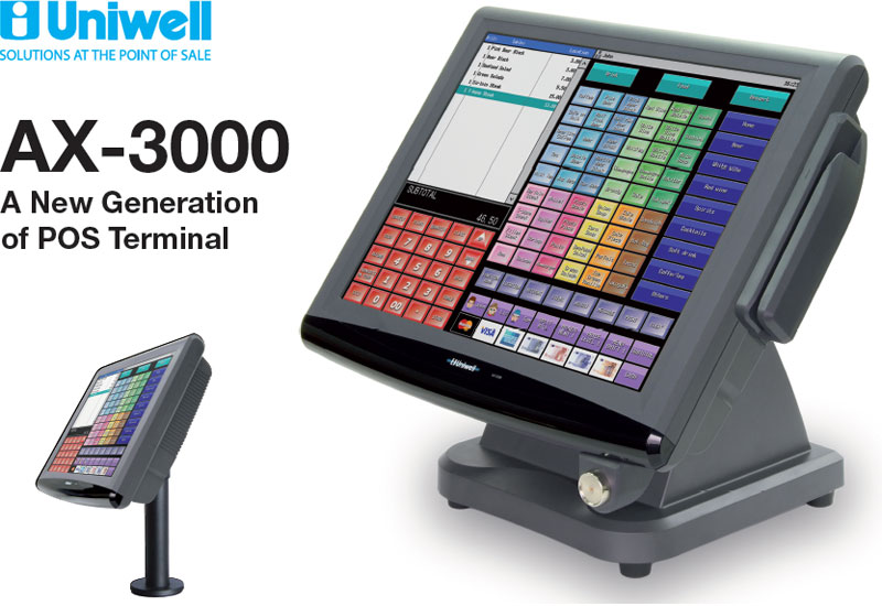 Uniwell AX-3000 Touch Screen ePOS Point of Sale System